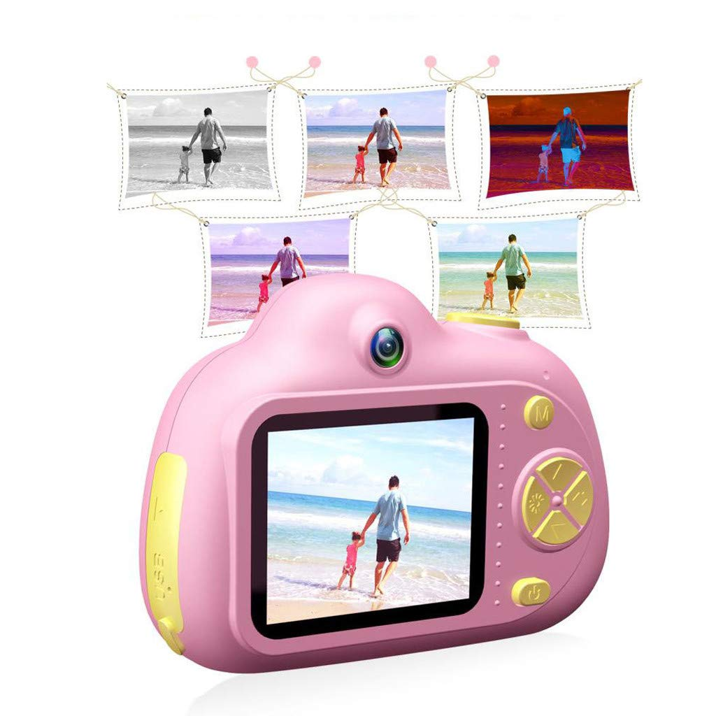 Kids Compact Camera Toys Witspace 8MP HD Video Camera Gifts Front/Rear Cameras Battery Powered for Aged 3-10 (Pink) by Witspace-Toys and Games (Image #6)