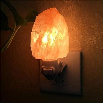 Lámpara de Sal Natural del Himalaya Luz Nocturna Más Nueva Lámpara ...