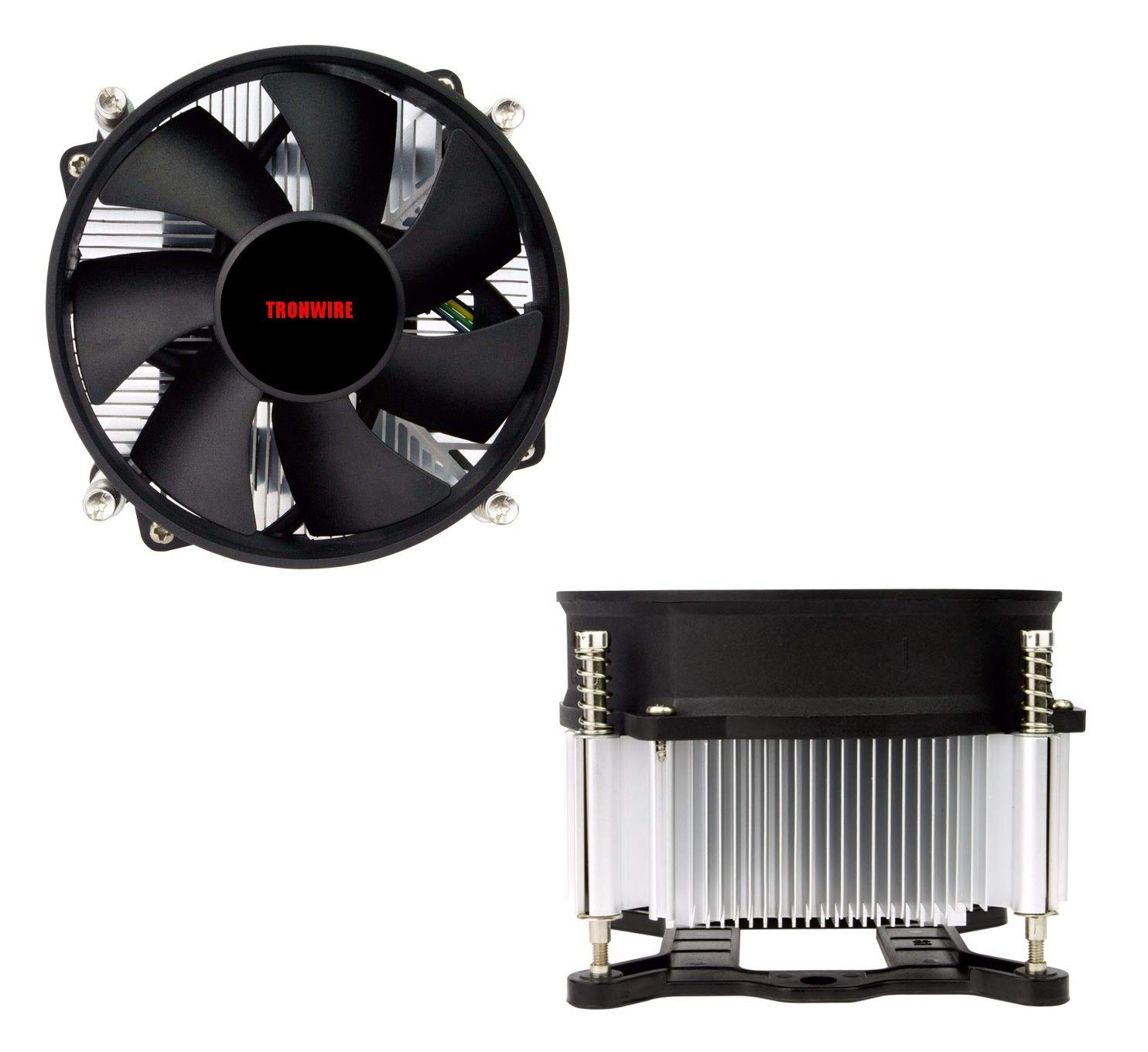 TRONWIRE TW-3 Premium Intel Core i3 / i5 / i7 Socket 1156/1155 / 1151/1150 4-Pin Connector CPU Cooler With Aluminum Heatsink & 3.62-Inch Fan With Pre-Applied Thermal Paste