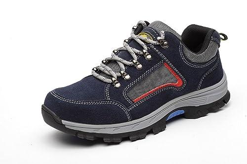 Zapatos Seguridad Trabajo Hombre, Mujer Deportivo Piel Ligeros Base Trekking Senderismo Antideslizante Zapatillas Calzado Bota