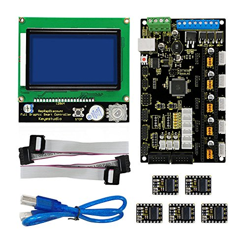 3D Printer Kit for Arduino MKS Base V1.2+8825 Drive+LCD 12864 Controller by Aigh Auality shop