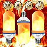SIXDEFLY LED Fire Bulbs E26 4 Modes with Upside Down Effect Simulated Decorative Atmosphere Lighting Vintage Flaming Lamp for Holiday Hotel/Bar/Party/Home, 3-Pack