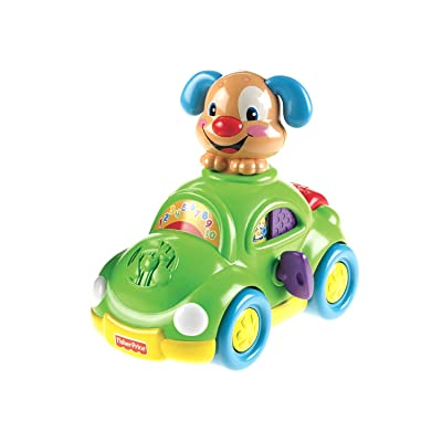 Fisher-Price Laugh & Learn Puppy's Learning Car: Toys & Games