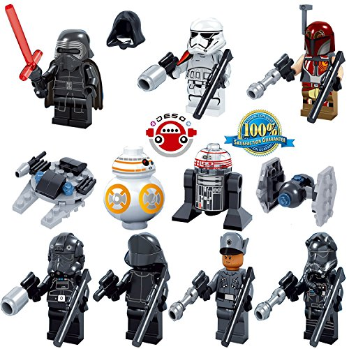DESO® 8pcs/Set Lego-Compatible figures star wars minifigures Building Bloks Sets Model Toys Minifigures Brick Toys star wars Figures Minifigures Toys with come with a Original box