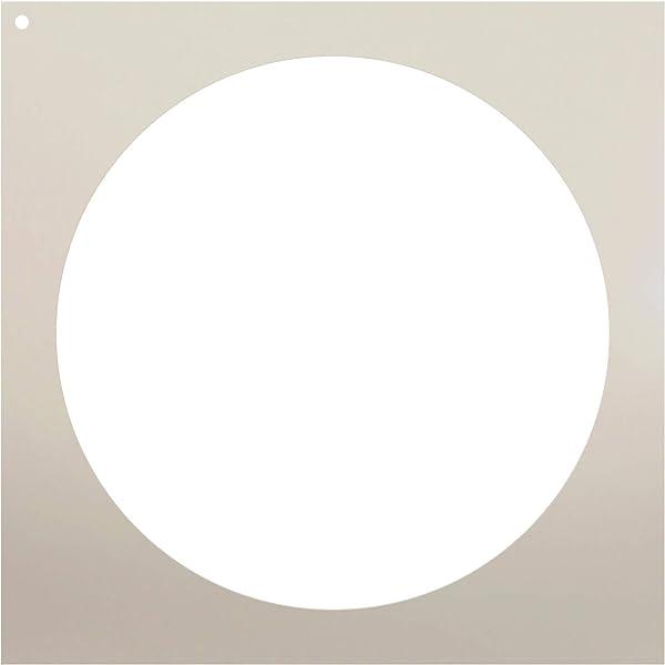 "Amazon. Com: 10"" circle stencil by studior12 | simple shape."