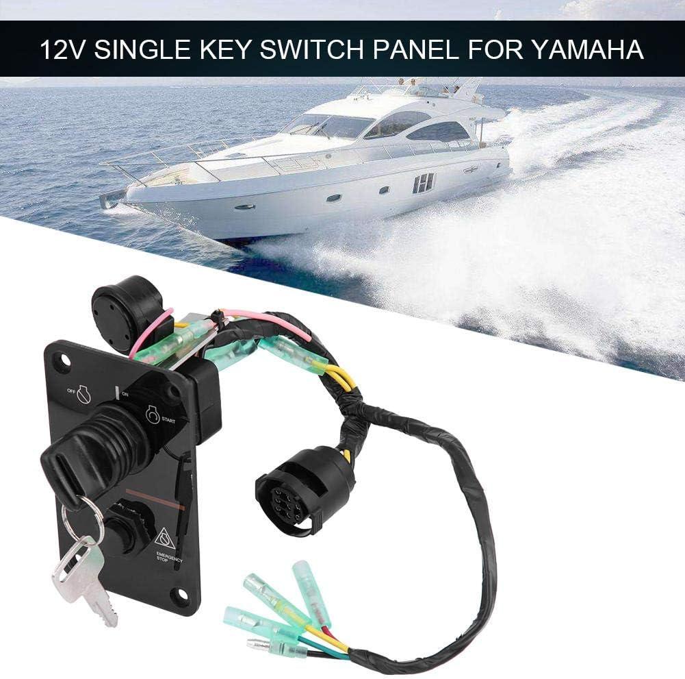 12V Switch Panel marine Single Key Switch Panel Assembly for Yamaha Outboard Engine Yacht 704-82570-12-00