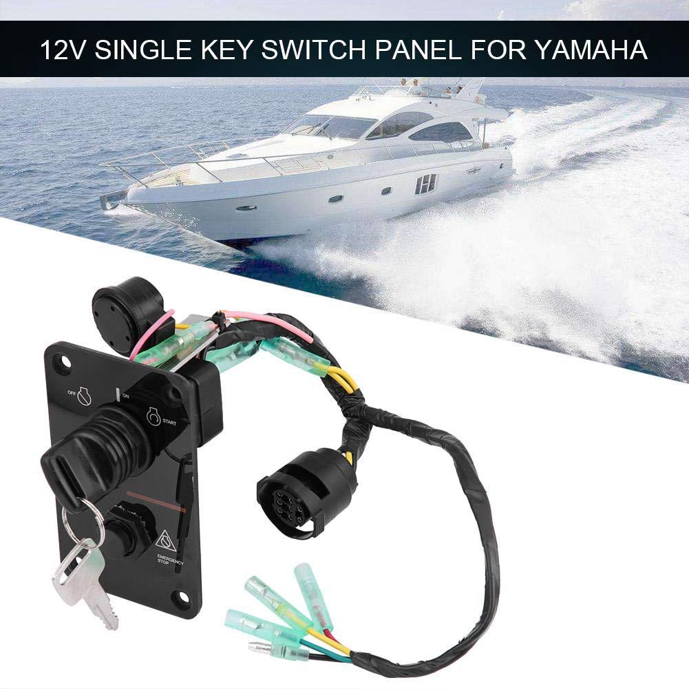 Single Key Switch Panel 12V Single Key Switch Panel Assembly for Yamaha Outboard Yacht 704-82570-12-00