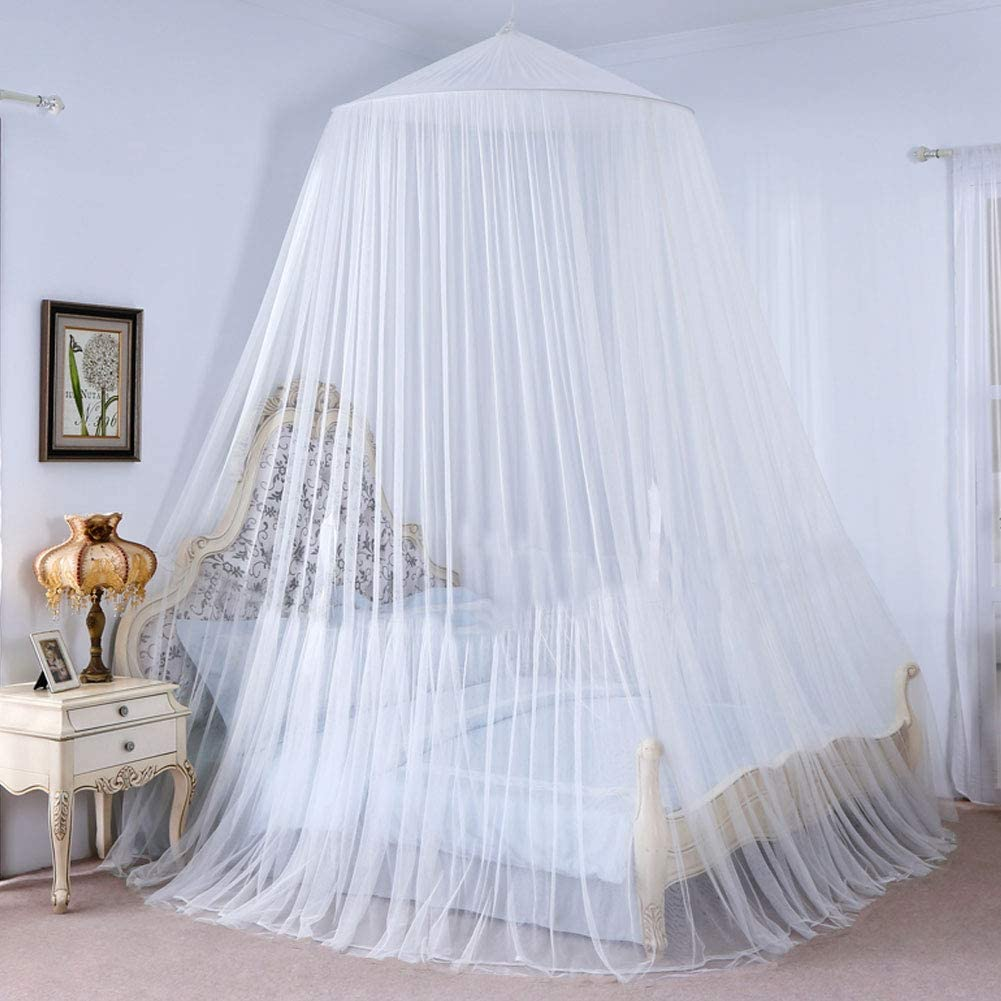 King Size Twin Mosquito net Bed Canopy Hammocks for Travelling Camping White 13 x 2.5 Meter VINTONEY Bed Canopy Indoor or Outdoor Insect Protection for Double Bed Single