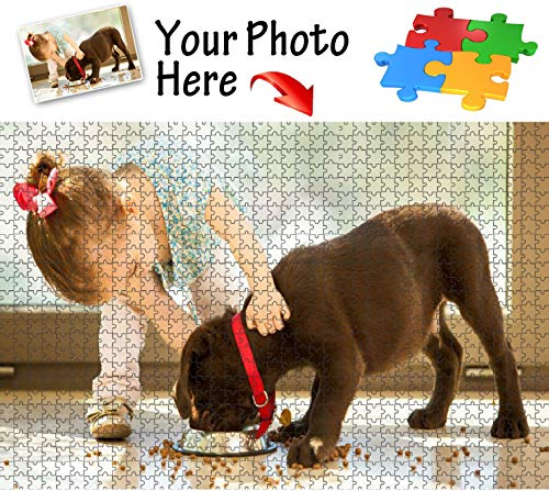 Personalized 500 Piece Wooden Jigsaw Puzzle, Custom Puzzles from Photos-Gift for Men and Women ()