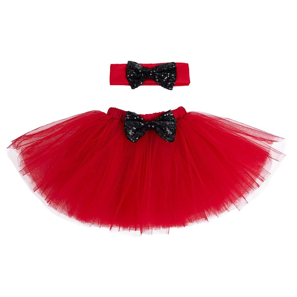 IBTOM CASTLE Baby Girls 1st Birthday Cake Smash 3pcs Outfits Set Skirt Clothes