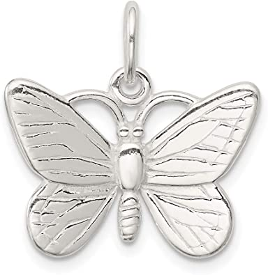 Butterfly Pendant Sterling Silver 925 Solid