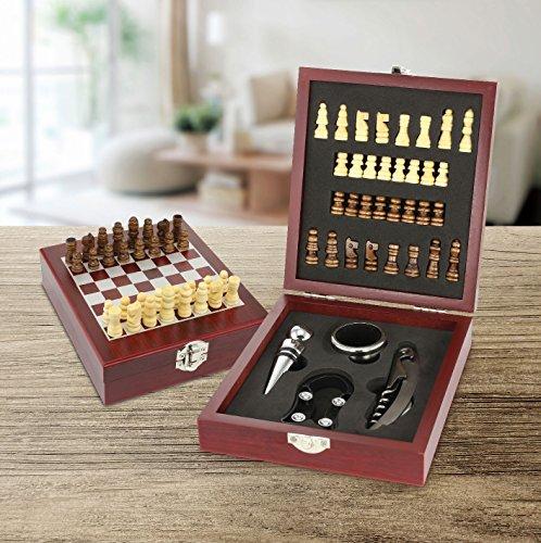 KOVOT Wine Tool Accessory Set (Wine & Chess - Chess Set Steel Stainless
