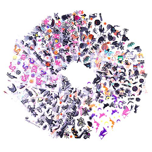 Halloween Nail Stickers 3D Nail Art Tattoo Decals Set, Water Transfer Tip Stickers Nail Art Tattoo Manicure Decoration, 24 Sheets for $<!--$3.99-->