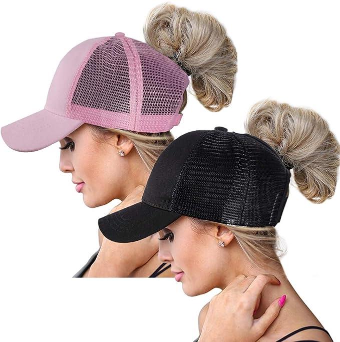 ZOORON - Gorra de béisbol - para Mujer Black+Pink(2 Pack, Mesh ...