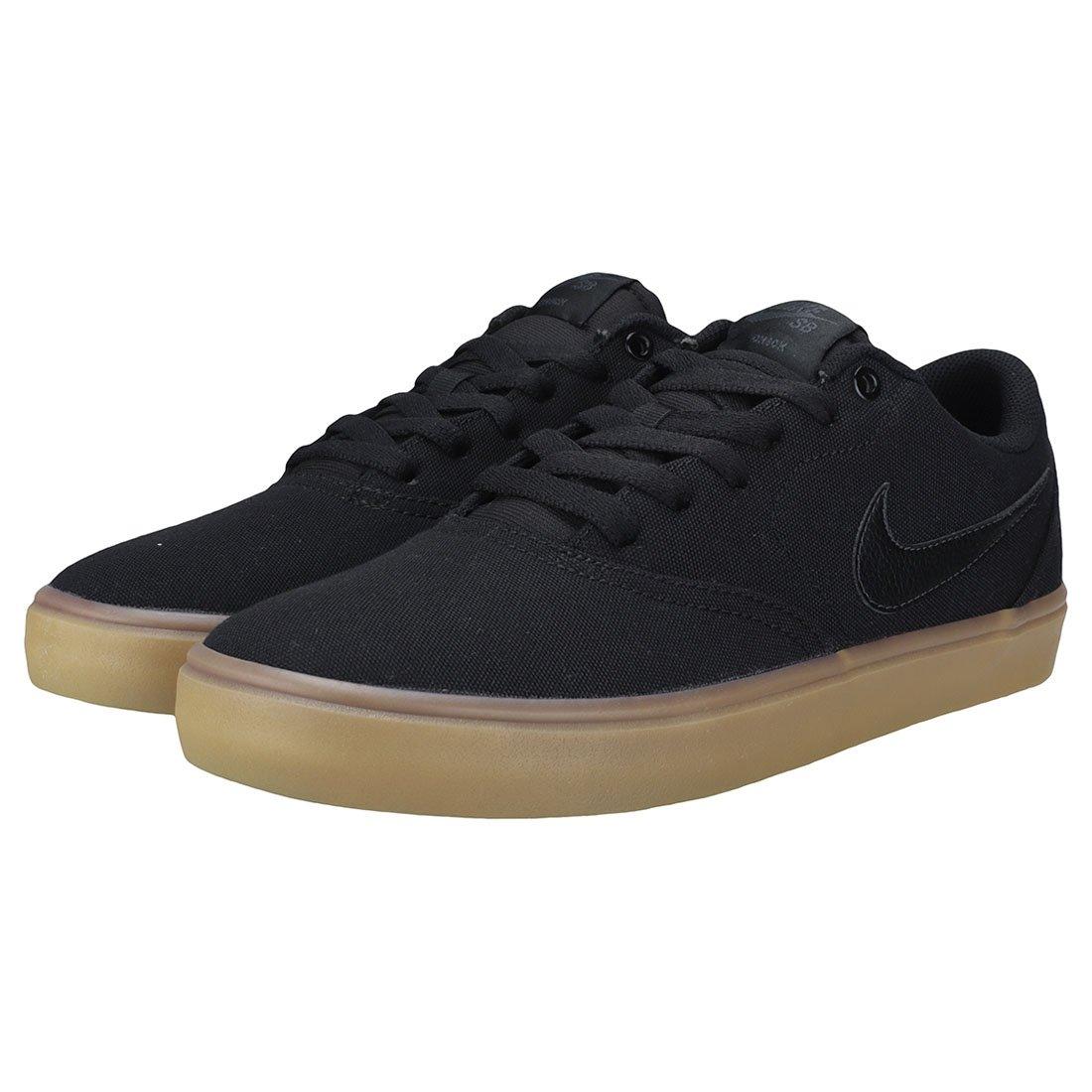 Nike Men's SB Check Solarsoft Canvas Skateboarding Shoes Black/Black-Gum Light Brown 10 by Nike (Image #9)