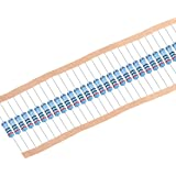 Flame Proof for DIY Electronic Projects and Experiments sourcing map 50Pcs 1 Ohm Resistor Axial Lead 1W 5/% Tolerance Metal Oxide Film Resistors