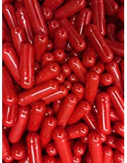 1000 Empty Gelatin Capsules. Red. Size 0. Opaque. Halal. Kosher.100% Bovine.Hypoallergenic.NON GMO.Manufactured in Canada