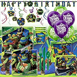 Deluxe Teenage Mutant Ninja Turtles Birthday Party Pack Decoration Kit For 16