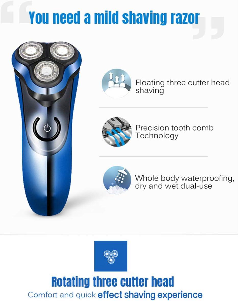 Afeitadora Eléctrica Recargable 3D IPX7 Máquina De Afeitar ...