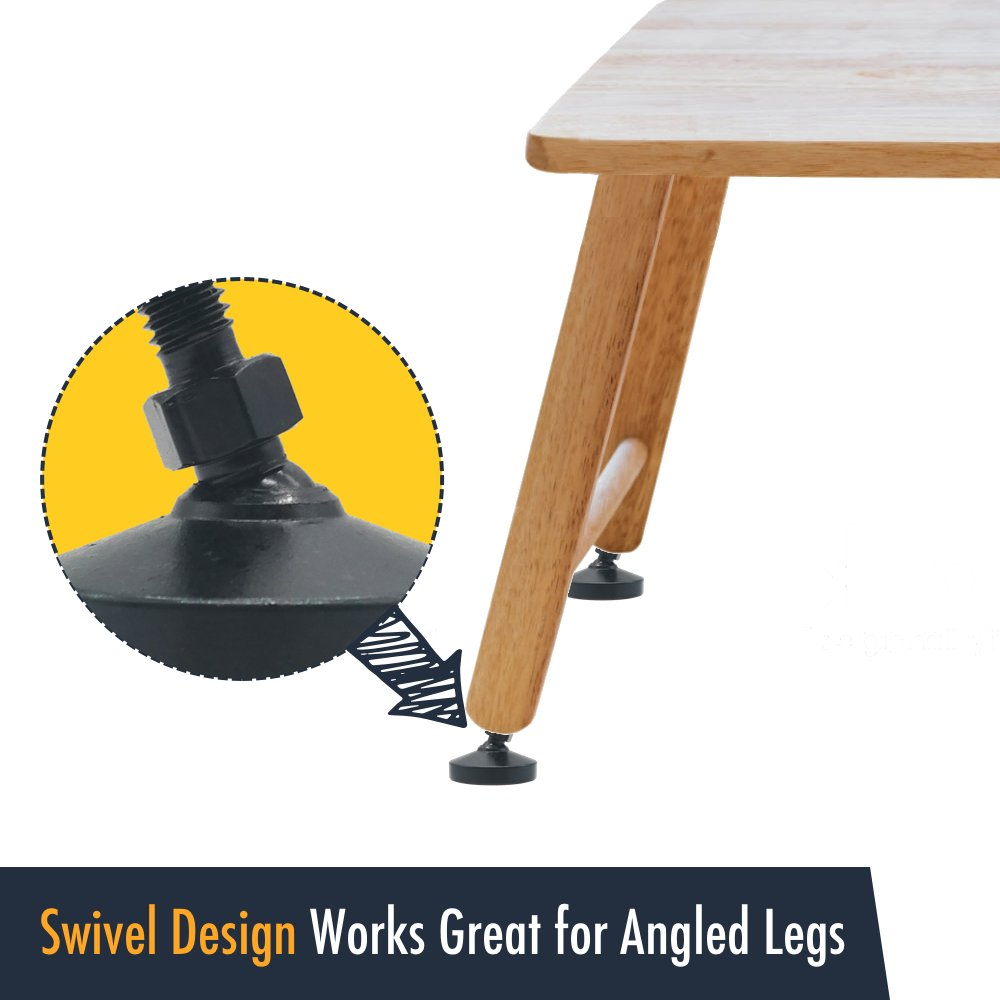 Unwiredd Swivel And Height Adjustable Heavy Duty Leg
