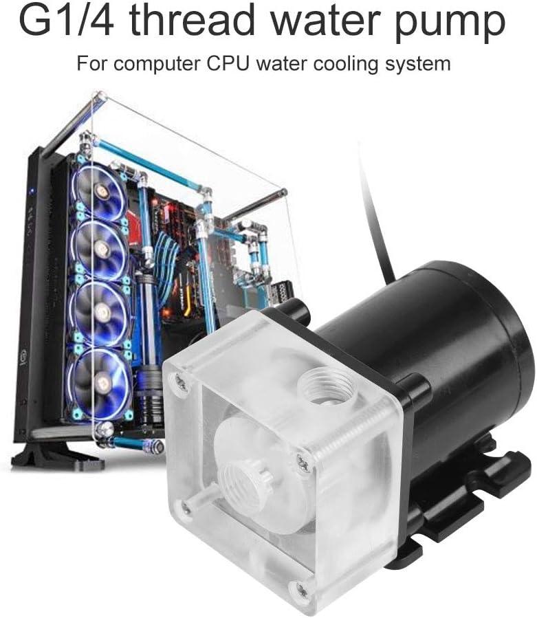 DC 12V Ultra-quiet CPU Cooling Water Pump G1//4 Thread for Desktop Computer