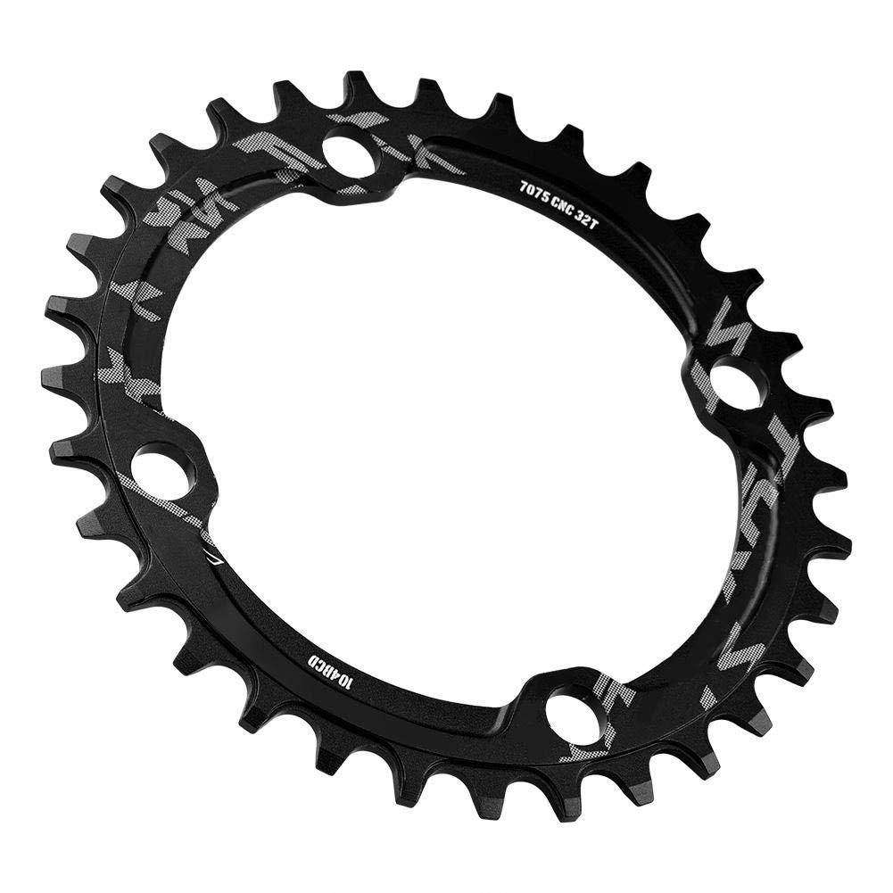 Plato de Bicicleta Monta/ña 32//34//36 104 BCD Plato Ancho de Aluminio de Solo Velocidad Manivela Anillo para Bicicleta de Carretera de Monta/ña BMX MTB 38T