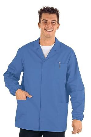 Isacco médico-Chaqueta de Deporte para Hombre Manga Larga, Color Azul: Amazon.es: Ropa y accesorios