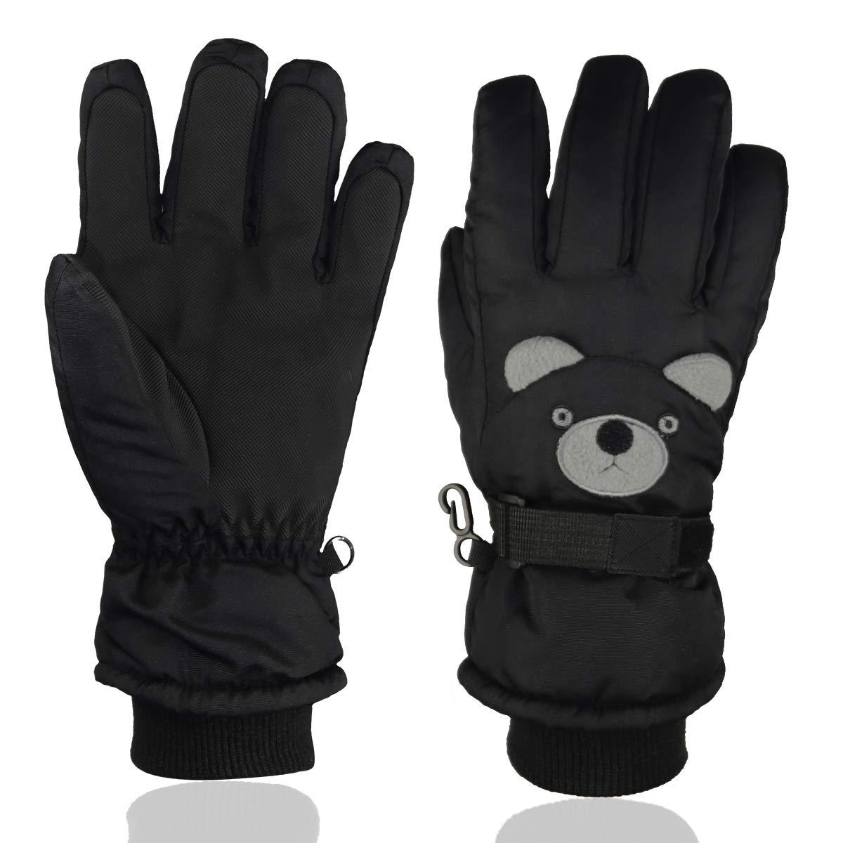 Kids Ski Gloves Snow Outdoor Winter Sports For Snowboarding,Kids Cute Skiing Gloves Mittens Momoon