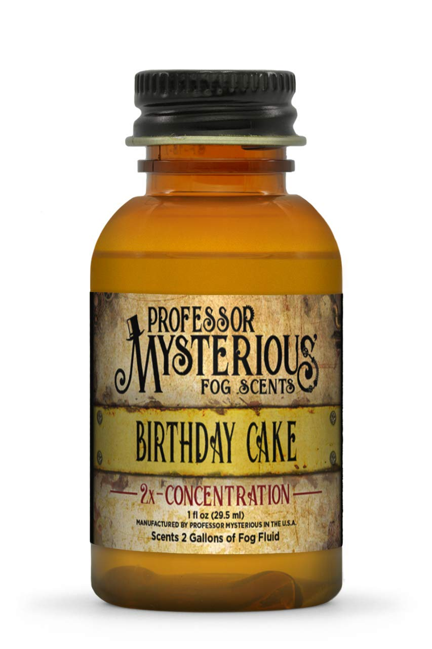 Professor Mysterious Birthday Cake Fog Machine Scent, ounce, 2x concentrate, treats 2 gallons by Professor Mysterious