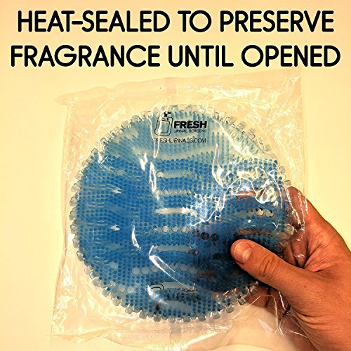 Urinal Screen Deodorizer (10 PACK) - Scent Lasts for Up to 5000 Flushes – Anti-Splash & Odor Neutralizer – Ideal for Bathrooms, Restrooms, Office, Restaurants, Schools – Ocean Mist Fragrance by Fresh Urinal Screens (Image #1)
