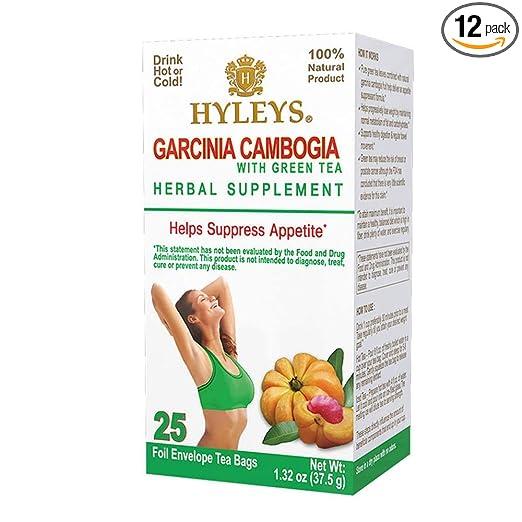 Amazon Com 12 Pack Hyleys Wellness Garcinia Cambogia Green Tea