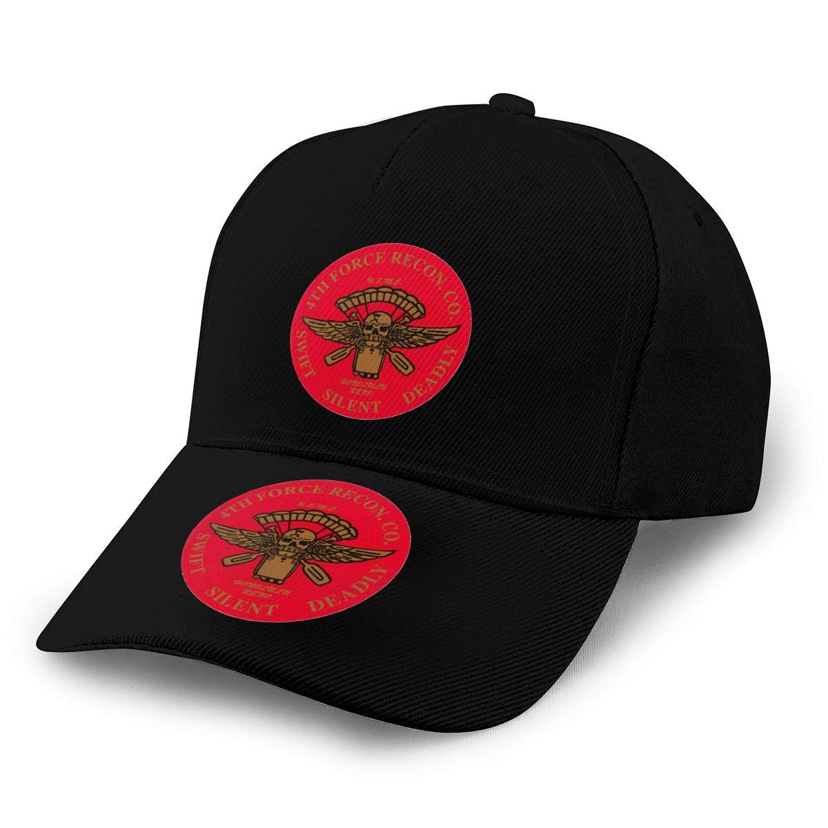 4th Force Reconnaissance Company Insignia Unisex Adult Hats Classic Baseball Caps Peaked Cap
