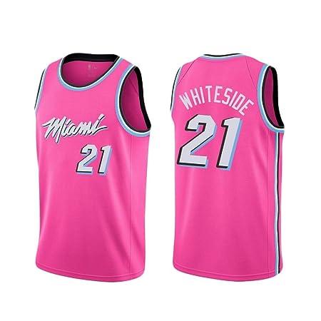 Genmaisiquanjia Camiseta De Baloncesto para Hombre - Miami Heat 21 ...