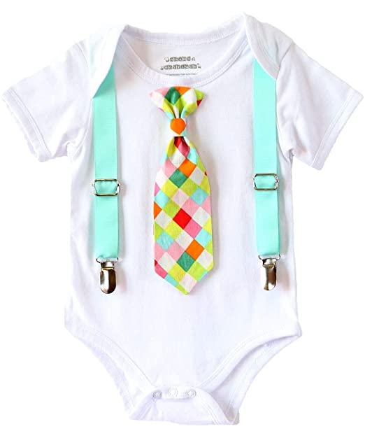 Amazon.com: Del boytique Baby Boy de Noé la ropa con corbata ...