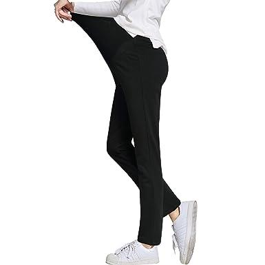 ad33bd1b0de7e JOYNCLEON Womens Maternity Work Pants Straight Leg Pregnancy Casual Trousers  for Pregnant Women (Label M