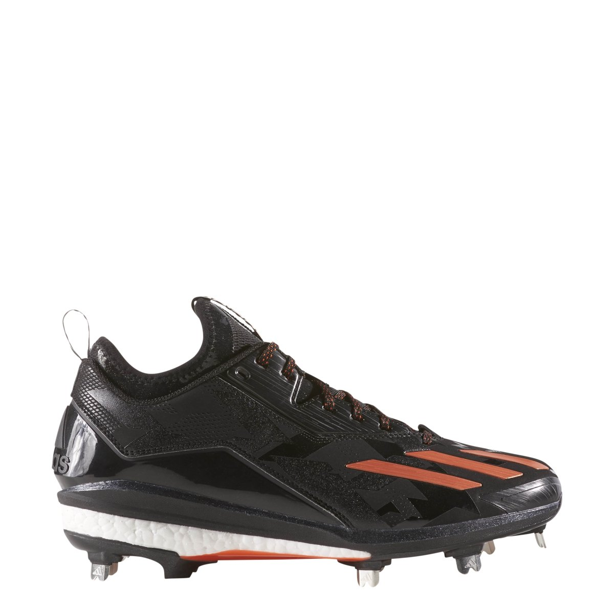 AdidasメンズEnergy Boost Icon 2。0 Low Metal Baseball Cleats B0739SCJCM 9|ブラック/オレンジ ブラック/オレンジ 9