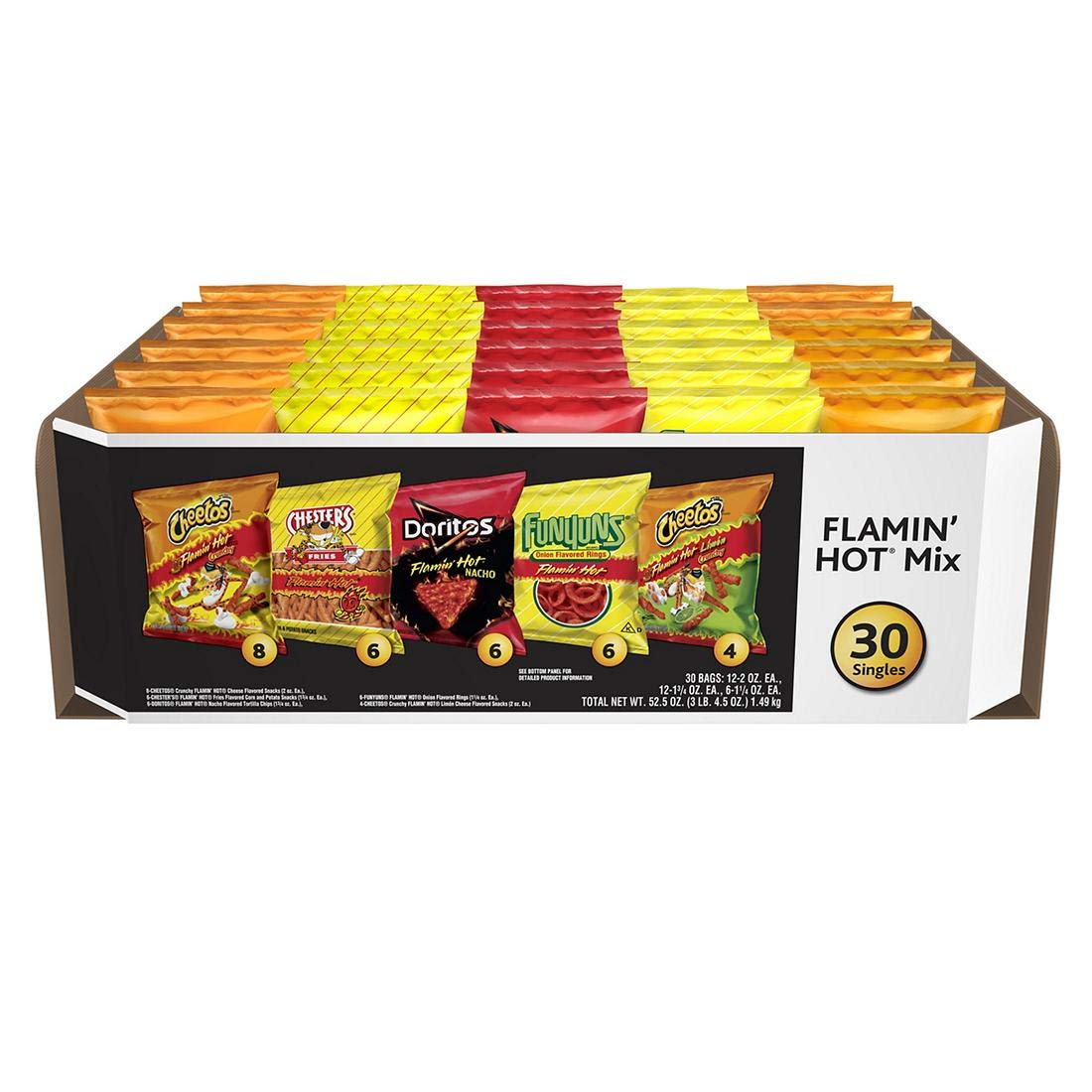 Frito-Lay Flamin' Hot Mix Variety Pack, 30 Count