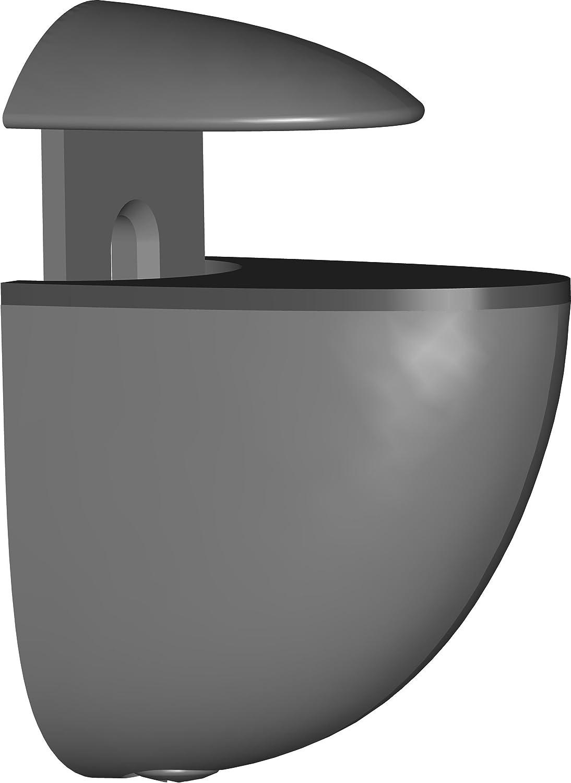Element System Regalbodentr/äger Midi chrom 2 St/ück 11051-00003 Glas-Holzbodentr/äger 5 Farben