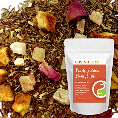 Juicy Apricot - Peach Apricot - Loose Leaf Honeybush Herbal Tea - Fusion Teas 16oz Pouch