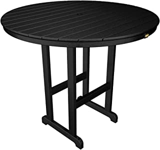 product image for Trex Outdoor Furniture TXRBT248CB Monterey Bay Round Bar Table, 48-Inch, Charcoal Black