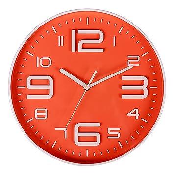 nice design quiet wall clock. Bien Zs Non Ticking Silent Quartz Wall Clock with Big 3D Number Modern  Design Amazon com
