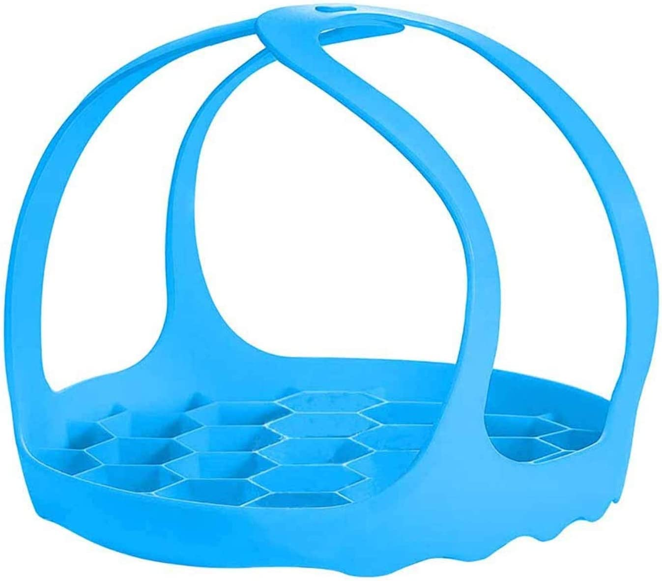 Pressure Cooker Sling bakeware sling for instant pot Lifter BPA-Free Silicone Egg Steamer Rack Anti-scalding Steamer Insert (Blue)