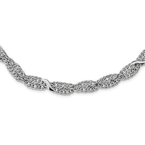 396c625ca92d Hielo quilates plata de ley 925 doble cable de enlace trenzado 2 cm  extensión cadena collar - fina joyería Set de regalo para las mujeres  Corazón  ICE ...