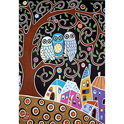 Anatolian Puzzle - Three Owls, 500 Pieces Jigsaw Puzzle, 3605, Brown/a: Toys & Games