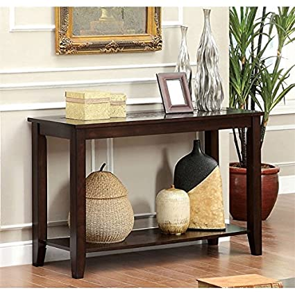 kitchen console table rustic furniture of america ronna console table in dark cherry amazoncom