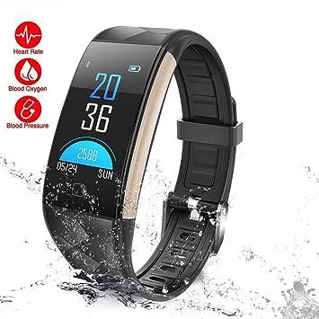 YOMYM Montre Connectée,Bracelet Connecté Etanche Podomètre Marche Smart Bracelet Tracker dactivité,