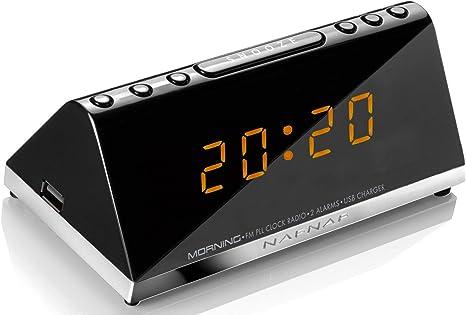 Sunstech Morningv2 Radio Despertador (FM, Digital, Alarma x