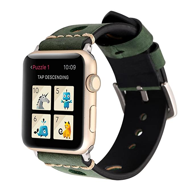 hefu para Apple Watch Series 1/2/3, Retro correa de cuero ...