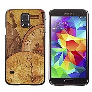 Graphic4You Old Vintage Clocks Watches Timepieces Design Hard Case Cover for Samsung Galaxy S5