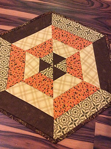 (Fall Centerpiece Quilted Table Topper Autumn Leaves Fabric Mini Table Runner)